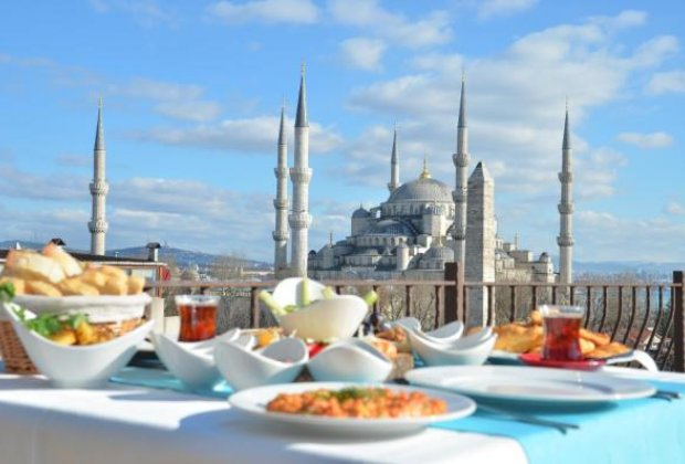 Blue Mosque view from hotel terrace